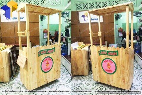 Xe gỗ bán trà sữa giá rẻ tại tphcm