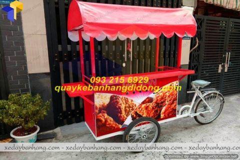 xe đạp bán gà rán khoai tây chiên lưu động vỉa hè