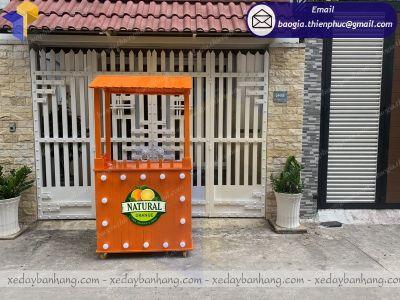 Tủ gỗ bán nước cam nhãn hàng NATURAL thông Palet siêu bền
