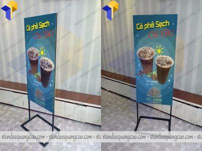 Standee quảng cáo hai mặt giá rẻ sản xuất tại xưởng Thiên Phúc.