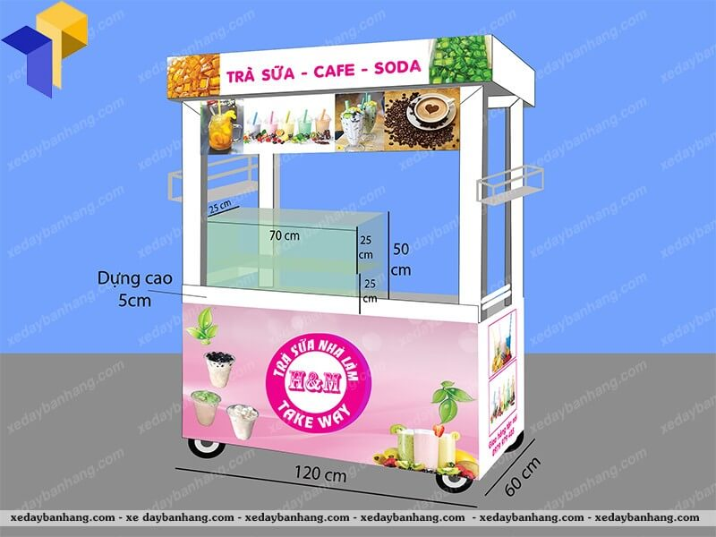 xe trà sữa HM giá rẻ