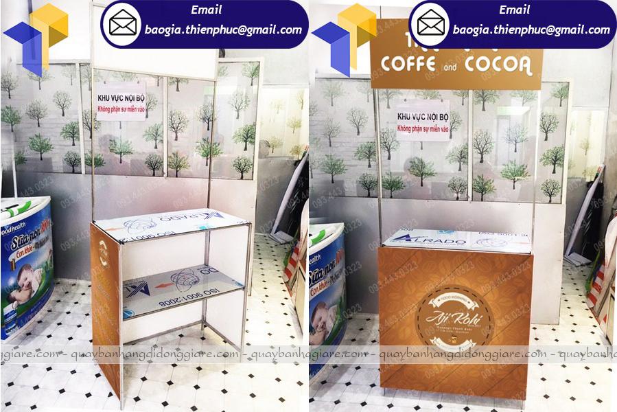 bán booth sampling giá rẻ