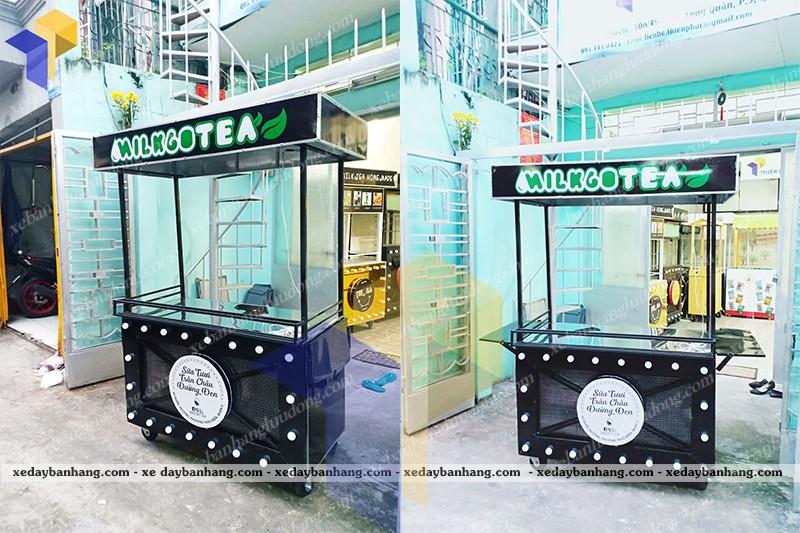 xe đẩy bán trà sữa milk gotea