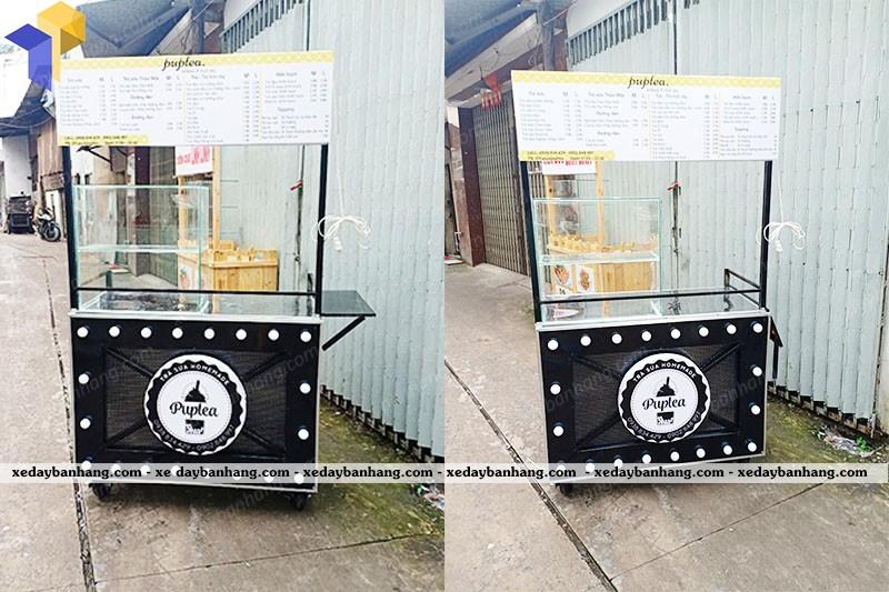 xe bán trà sữa giá rẻ pup tea