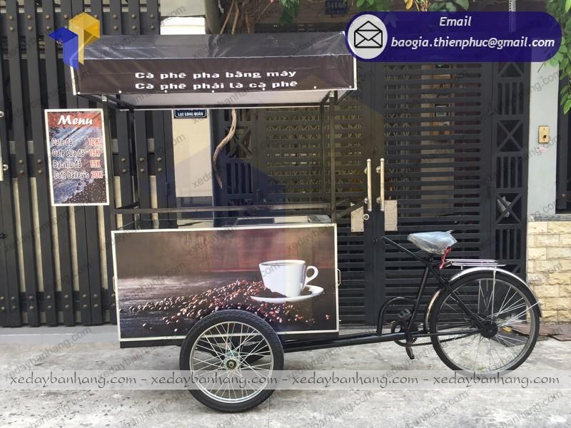 đóng xe đạp bán cà phê giá rẻ