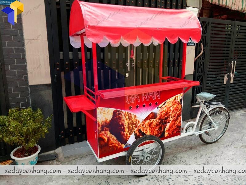 xe đạp bán gà rán hcm