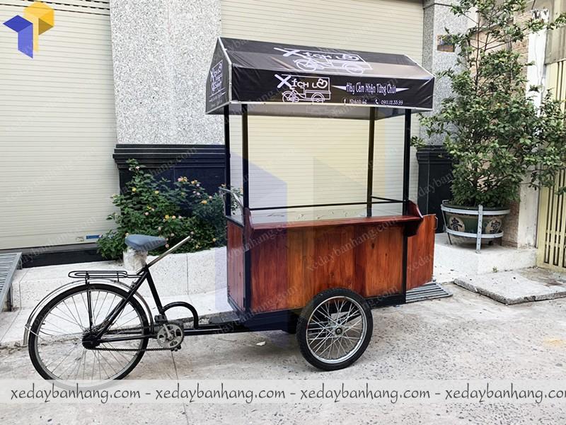 thiết kế xe đạp bán hàng bằng gỗ