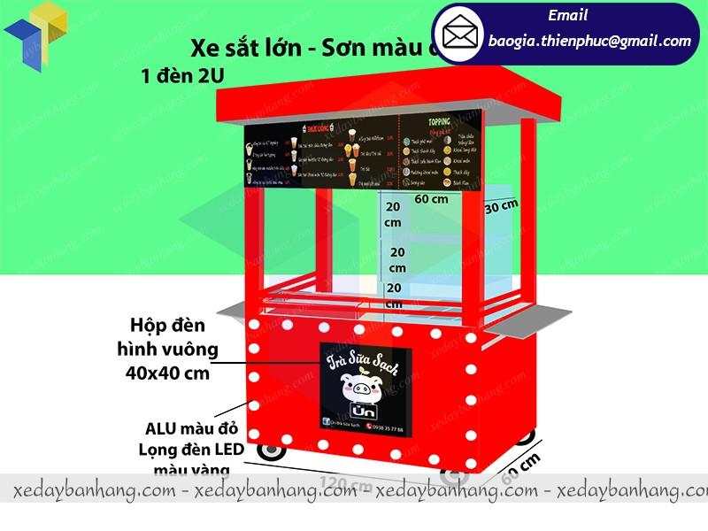 xe đẩy bán trà sữa giá rẻ