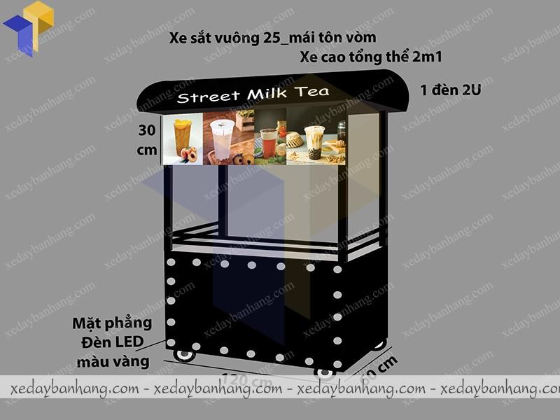 xe trà sữa strees milk